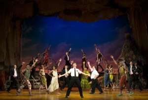 "The original Broadway cast of ""The Book of Mormon."""